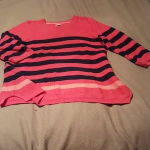 Hot Pink and Navy sweater